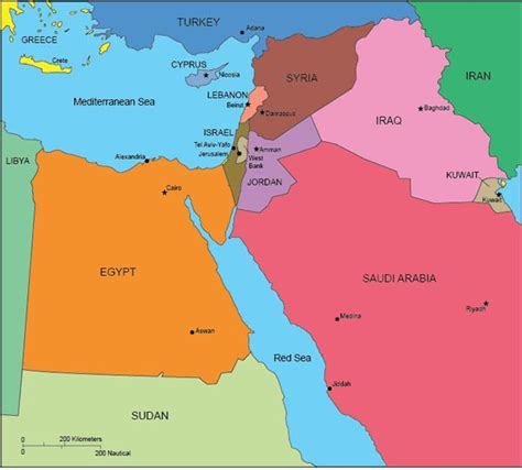 map of israel and surrounding countries - Yahoo Canada