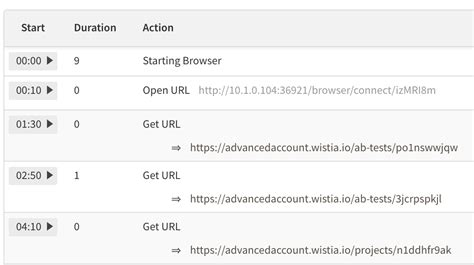 """Testcafe """"chapters"""" in Text Log on Browserstack"""