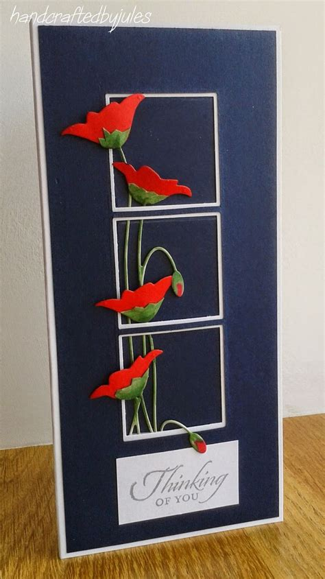 1000+ images about Cards - Memory Box - poppy die cut on