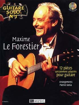 Songbook Maxime LE FORESTIER Guitare solo n°1 + CD
