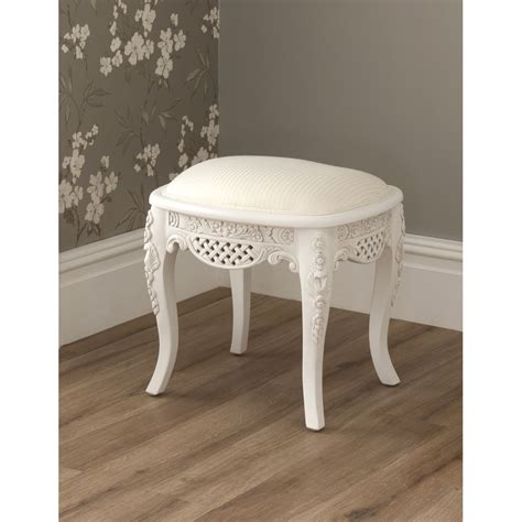 La Rochelle Antique French Stool   French Bedroom Furniture
