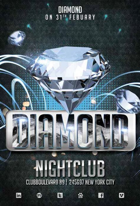 Diamond Club Free Flyer Template Download for Photoshop