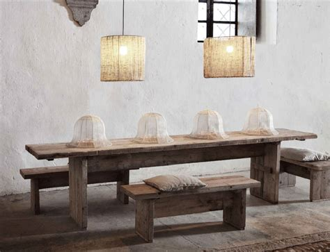 Exquisite large raw wooden dining table, timeless