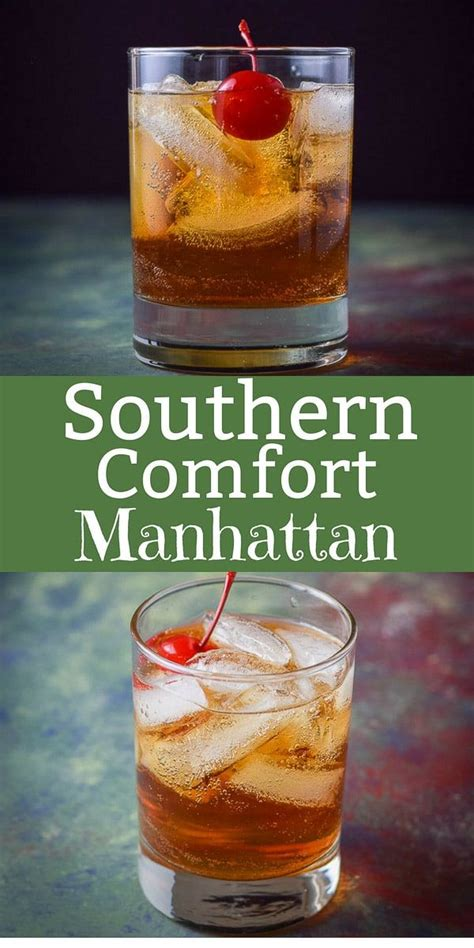 This Southern Comfort Manhattan is super delicious and